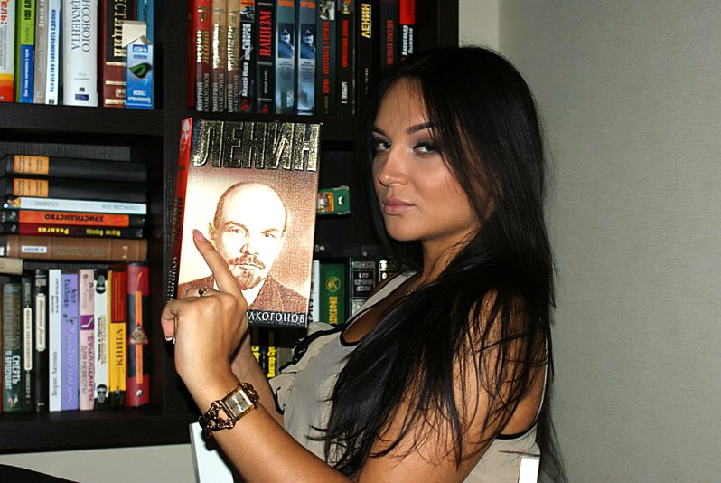 Alexandra with Lenin