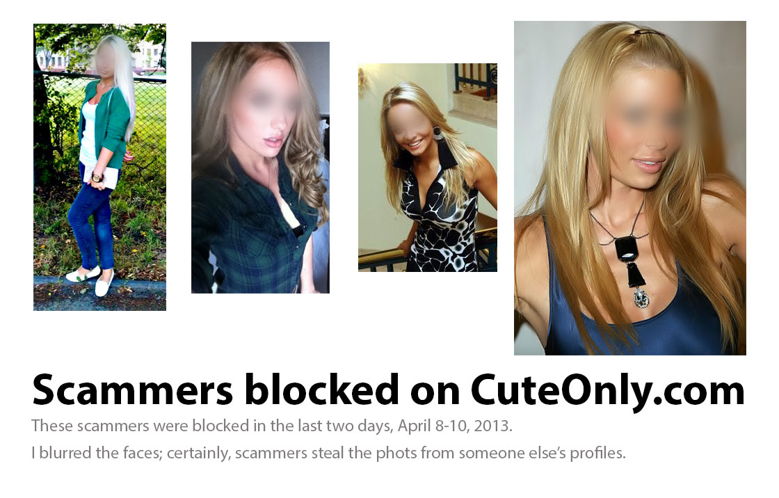 Pictures of online dating scams